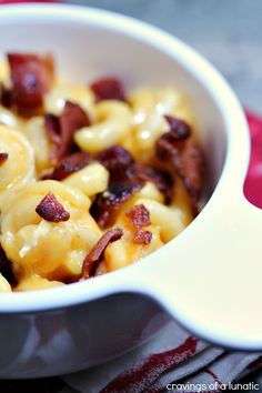 Smoked Bacon Mac and Cheese by Cravings of a Lunatic