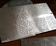 Etching silver with nail art stamps