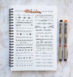 """31 Likes, 1 Comments - Tori's Lines (@torislines) on Instagram: """"Morning doodling exercises  . . . #bujo #bulletjournal #studyblr #studyspo #studying#studygram…"""""""