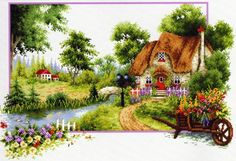 Embroidery Summer perfume. Embroidery house | Домоводство для всей семьи