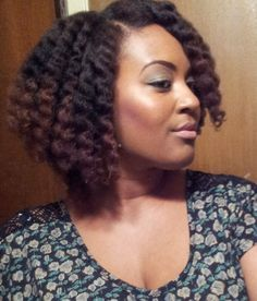 Twist out styled in a Bob! natural hair styles with twistBlack Women Natural Hairstyles | iTweenFashion.com