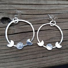 Check out this item in my Etsy shop https://www.etsy.com/listing/535372768/psychic-moon-earrings-gypsy-handmade