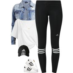 Adidas* by thatchickcrazy on Polyvore featuring Red Herring, VILA, adidas and Yves Saint Laurent