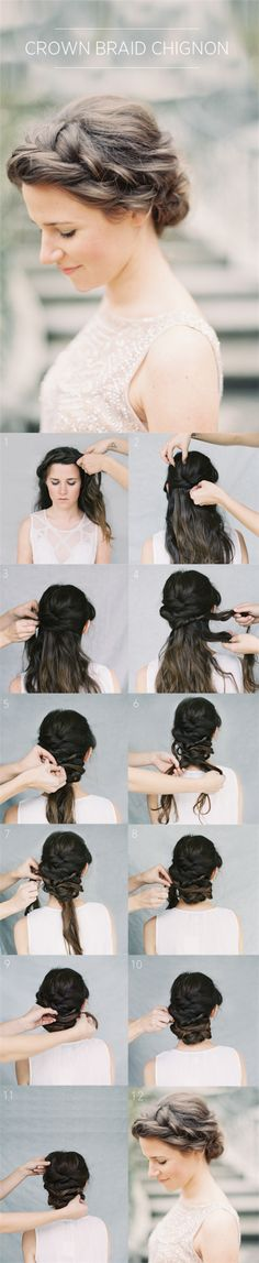 wedding updo hair with real and remy human hair extensions clip in