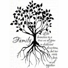 Simple Womens Family Tree Tattoo
