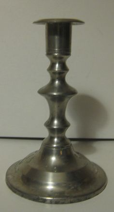 20% off with our Superbowl Special Vintage Stieff Pewter Candlestick Old Sturbridge by dtriece, $12.00