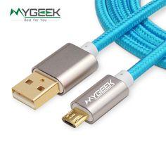 Mygeek micro usb cable para samsung galaxy htc meizu huawei android 3 m 2 m cable Microusb de Carga Rápida de Nylon Mini Cable Del Cargador Del USB