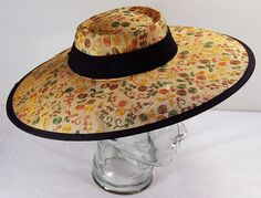 Vintage Hat  beautiful straw with flowers by 2goodponiesvintage, $69.00