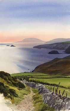 Towards Bardsey, an original watercolour painting by Rob Piercy