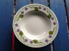 "Seks dype skåler - ""Fiol"" fra Figgjo. Dinnerware, Retro Vintage, Plates, Tableware, Dinner Ware, Licence Plates, Dishes, Griddles, Dining Ware"