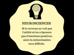 Si le cerveau ne voit pas l'utilité et/ou n'éprouve pas d'émotions positives, alors la mémorisation sera difficile. Motivation, Teaching, Adhd, Self Esteem, Fun Learning, Mental Map, The Brain, Teaching Manners, Determination