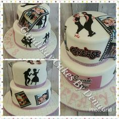 Grease themed cake