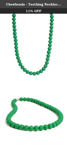 """Chewbeads - Teething Necklace Emerald. From the owner of Chewbeads: """"The idea for Chewbeads began in 2009 shortly after the birth of my son. Like most babies, he loved to put everything in his mouth and my necklaces were a favorite. Like most moms, I didn't feel comfortable letting him chew on them, with concern that they might break or have unwanted chemicals. As a veteran of the fashion industry, I had an amazing collection of necklaces and bracelets, so with those as my inspiration, I…"""