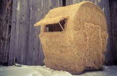 Diy Project Make Your Own Bale Blind Outdoor Life Hay Bale Blind Photos Prairie Hunting Blin. Deer Hunting Tips, Deer Hunting Blinds, Coyote Hunting, Pheasant Hunting, Archery Hunting, Hunting Stuff, Waterfowl Hunting, Hay Bale Blind, Hunting Stands