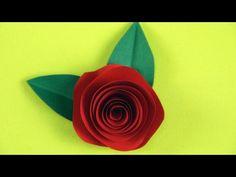 einfache Rosen basteln mit Papier - YouTube