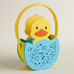One of my favorite discoveries at WorldMarket.com: Large Duck Felt Easter Basket