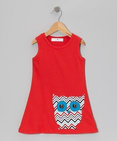 Red Owl Dress - Toddler & Girls by mini scraps #zulily #zulilyfinds