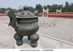 ANTIQUE CHINESE TEMPLE INCENSE BURNERS | censer incense burner in santiago june 13 santiago watercolor ...