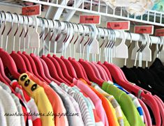 An Organized Closet for a Teen Girl-good to keep for my oldest daughter when she becomes a teen...