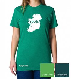 Ireland Roots Map T-Shirt Mens & by SevenMilesPerSecond on Etsy