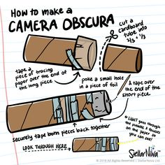 New origami Camera Obscura . How to Make A Camera Obscura Diy Old Fashioned Style Camera for Diy Pinhole Camera, Camera Crafts, Camera Art, Photography Lessons, Photography Projects, Children Photography, Aerial Photography, Photography Sketchbook, Camera Obscura