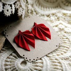 Ripple earrings made from recycled fabric and silver, Recycled Fabric, Red Christmas, Recycling, Earrings, Silver, Ear Rings, Stud Earrings, Ear Piercings, Ear Jewelry