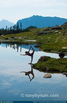 "Yoga Poses Around the World: ""Glacier National Park, Montana - August, 2012"""