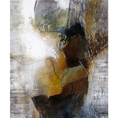Medium abstract painting, canvas, brown, white, landscape, structures,... ($225) ❤ liked on Polyvore featuring home, home decor, wall art, acrylic landscape painting, white paintings, white canvas painting, white home accessories and white canvas wall art