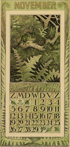 Theodoor van Hoytema, calendar 1911 November