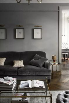 Gray living room ideas - how to get this shade right | Livingetc Living Room Grey, Small Living Rooms, Living Room Sofa, Interior Design Living Room, Living Room Designs, Living Room Decor, Grey Interior Design, Classic Interior, Interior Designing