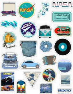Retro blue sticker pack retro blue stickers vintage aesthetic retro aesthetic light blue dark blue aqua navy blue the great wave posters nasa flowers denim record sticker pack overlays Stickers Cool, Tumblr Stickers, Phone Stickers, Printable Stickers, Cute Laptop Stickers, Macbook Stickers, Planner Stickers, Collage Des Photos, Wallpaper Aesthetic