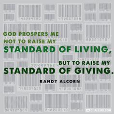 Randy Alcorn, quote, prosperity, picture, image, purpose