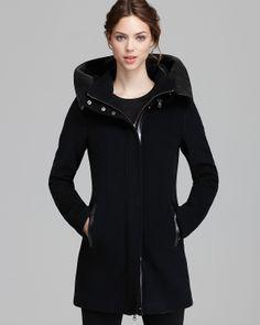 Mackage Coat - Sunski Leather Trim Hood   Bloomingdale's