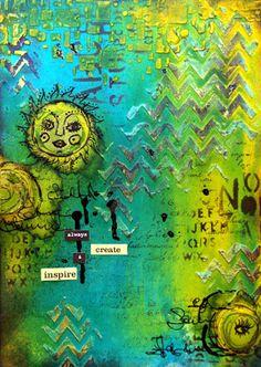 skorpionens rede: Always create & inspire - art journal Mixed Media Collage, Mixed Media Canvas, Collage Art, Collages, Cool Journals, Art Journals, Altered Books, Altered Art, Art Journal Inspiration