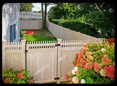 Cedar Wood Grain Vinyl Fence