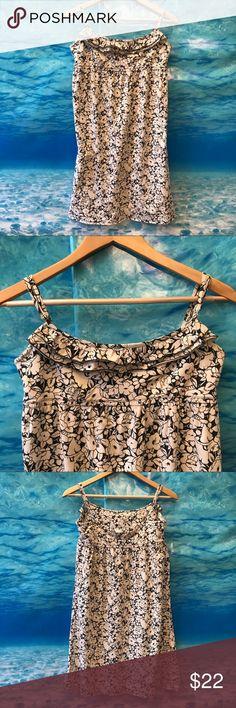 Loft Dress Adjustable shoulder straps ~ Black and cream {7} LOFT Dresses
