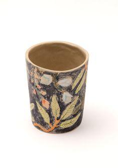 Stoneware Jungle Beaker by LauraLauraBird on Etsy, £30.00