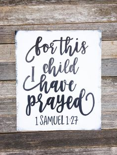 For this Child I Have Prayed Sign  1 by SimplySouthernSignCo