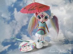 Customized miniature Blythe (Littlest Pet Shop version) or other adorable customized doll with some fun colors