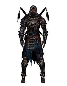 Human Ninja - Pathfinder PFRPG DND D&D d20 fantasy