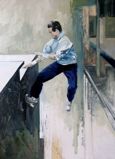 "Maria Kondimae ""City is my Playground"" Oil on board, 90*120 cm. 2011."