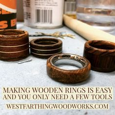 Ring making is easy, and you can start with a very small list of tools. This is fun beginner woodworking project, but you can take it very far over time as you add detail and complexity to your rings. That's the beauty of ring making. It's easy even for a
