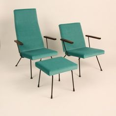 Set of 2 Model 1410 lounge chairs from the fifties by André Cordemeyer for Gispen