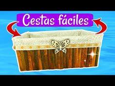 DIY CESTAS FÁCILES CON ASAS DE PERIÓDICO QUE TE ENCANTARÁN. - YouTube