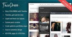 Премиум шаблон для WordPress Facepress
