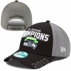 New Era Seattle Seahawks 2013 NFC West Division Champions 9FORTY Adjustable Hat - Gray/Black