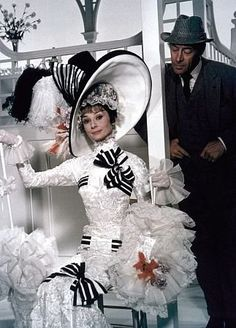 "Black and white at the track in ""My Fair Lady""."