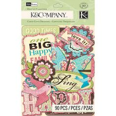 K&Company Die-Cut Cardstock, Kelly Panacci Blossom Scrapbook Supplies, Scrapbook Paper, Scrapbooking, Fabric Crafts, Sewing Crafts, Sticky Paper, Paper Mask, Die Cut Cards, Online Craft Store