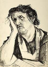 Norman Cornish - Mother Resting Drawing Prints, Apple Art, Norman, Famous Artists, Art Masters, Drawing Illustrations, Culture Art, British Art, Consciousness Art