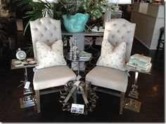 What's New Wednesday: Polished Nickel Side Table. Available through Heather Scott Home & Design.
